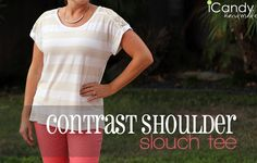 Contrast Shoulder Slouch Tee