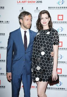Pin for Later: Anne Hathaway's Latest Red Carpet Is a Baby-Bump Debut and Date Night All at Once