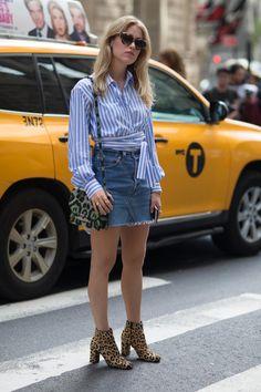 On the street at New York Fashion Week. Photo: Emily Malan/Fashionista