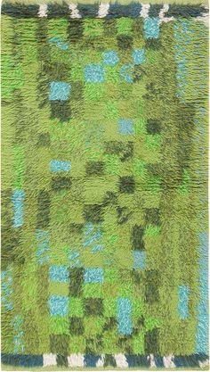 Anonymous; Wool Rya Rug, c1960.