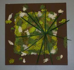 Tableau végétal stabilisé 50 x 50cm  001 de Caly-design-vegetal sur DaWanda.com