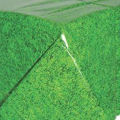 Football Grass Plastic Tablecover 1.37m x 2.59m