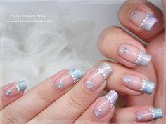 ▶ Nail art tout en douceur (avec pierres liquides) - YouTube