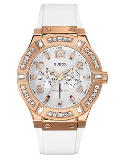 Buy this ladies watch from Guess. We are official dealer of Guess watches, which is your guarantee that this lady's watch is genuine. Unusual Watches, Cool Watches, Watches For Men, Guess Watches, Luxury Watches, Rolex Watches, Chanel Watch, Watch Model, Watch Brands