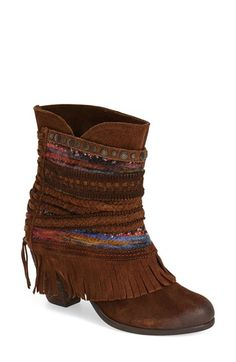 Free shipping and returns on Naughty Monkey 'Poncho' Boot (Women) at Nordstrom.com. Put a swing in your step thisseason with this colorfulsuedeboot featuring flared fringe.