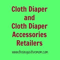 Cloth Diaper Retailers