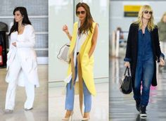 Elle's airport style, featuring oversized long coat