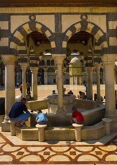 Ablutions at Umayyad Mosque, Damascus, Syria