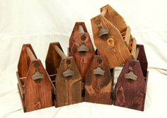 10 Wooden Six Pack #Beer Carriers, Personalized Beer Caddies for #Groomsmen or Host Gifts @Etsy