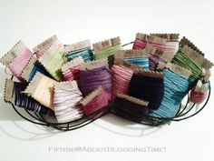 Embroidery Holders made with cardboard.  embroidery floss, diy, crafts, colorful, color,