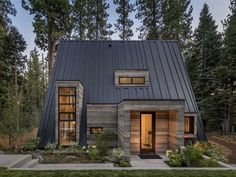 A Frame House Plans, Tiny House Cabin, Hut House, Silo House, Cabin House Plans, House Floor, Forest House, Forest Cabin, Cabins And Cottages