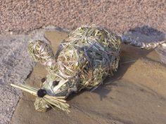 Zvířátka ze sena | Výrobky z přírodních materiálů Topiary, Natural Materials, Garden Art, Turtle, Crafts, Animals, Hay, Figurine, Craft