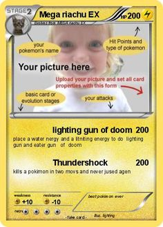 Pokemon Card Template Tutorial. Will use this for a Pokemon themed ...