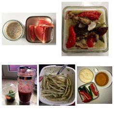 Detox day 2 23.06 wtorek I - 12:00 Woda z cytryną Pudding chia, mleko sojowe, syrop klonowy, len mielony + 0.5 grejpfruta  II - 14:00 Krem z cukini, selera, pietruszki + grillowane warzywa: papryka, szparagi, bakłażan, cebula czerwona, czosnek III - 16:00 Mała sałatka wakame + koktajl z truskawek, jabłka, imbiru i lnu mielonego  IV - 19:00 Fasolka szparagowa z koperkiem na zimno V - 21:00 Koktajl z bananam, jabłka, mleka sojowego i lnu mielonego VI - 22:30 Hummus, papryka, ogórki + senes…