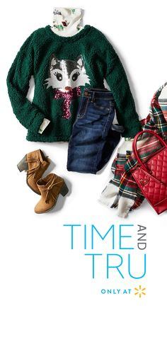 af11d729 'Tis the season to find a new casual winter look from Time and Tru.