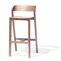 Meadow High Stool  Footrest Plywood And Industrial
