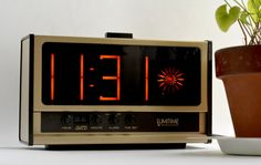 Lumitime Neon Clock with alarm / Tamura Electric KT-10C / 1973