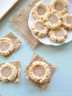 This is the best salted caramel thumbprint Paleo coconut cookies recipe I've ever found. They are perfect to make for your next Christmas cookie party.