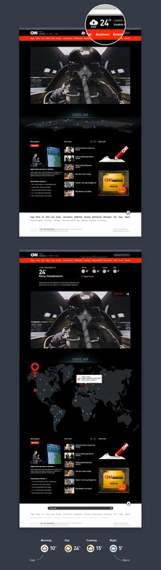 CNN design concept by Andrew Melnikov, via Behance