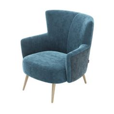 Laskasas   Decorate Life   www.laskasas.com   Living Room Armchair   Uiara is an upholstered armchair, involved in Turkish Sea Blue fabric and with capitone on the back. A modern design with lacquered feet.