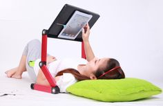 Get iCraze Adjustable iPad Laptop Table Laptop Computer Desk Portable Bed Tray Book Stand Multifuctional & Ergonomics Design at Tablets - T. Ipad Bed Stand, Laptop Stand, Tablet Stand, Laptop Table, Laptop Desk, Portable Bed, Portable Table, Best Ipad, Bed Tray