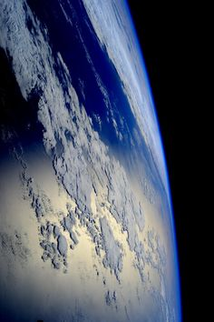 """joshpeck: """"just—space: """"Lovely shot of Earth From ISS astronaut Sam Cristoforetti """" """""""