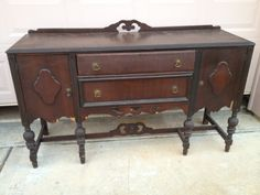 Vintage Buffet Sideboard Cabinet Server Hutch Tv Console Table Antique  Rustic | Vintage Buffet, Buffet And Consoles