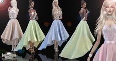 Jom Sims Creations: Xanaelle dress • Sims 4 Downloads