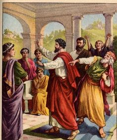 9.  Age 35 - In Antioch, meets Apostle Paul, leaves paganism, & becomes a Christian.