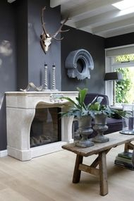 great idea for our dining room with the glass behind the hearth