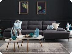 Shop the Karina Fabric Chaise Collection and a wide range of other furniture collections. Showrooms in Sydney, Melbourne & Brisbane Living Room Furniture Layout, Funky Furniture, Bedroom Furniture, Home Furniture, Furniture Shopping, Leather Lounge, Lounge Sofa, Modern Sofa, Furniture Collection