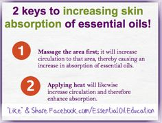 Young Living Essential Oils: increase skin absorption of essential oils  Young Living #1598558