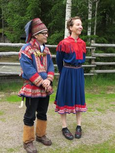 Traditional Sami outfits in Rovaniemi, Finland.