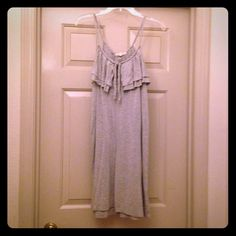 Joie Grey Ruffle Dress Grey Joie ruffle dress with tie around the neck. Size medium. Joie Dresses