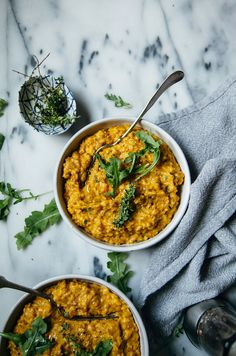 Creamy Vegan Farrotto with Butternut Squash - The First Mess