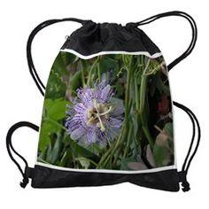 PASSION FLOWER VINE Drawstring Bag
