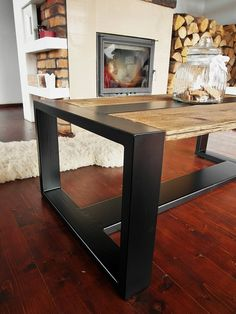 Handmade Rustic Reclaimed Wood & Black Steel от DesignInFocus