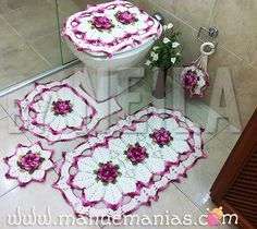 Jogo de Banheiro Flor Caracol