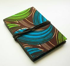 blank wax fabric and leather journal