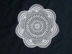 Rising Sun Doily #7274 I want this, large, in mustard as a rug!!
