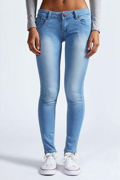 Faith 7/8 Bleached Ankle Grazer Jeans at boohoo.com - £20.00