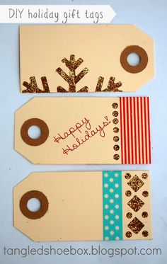 tangled shoebox: DIY Gift Tags