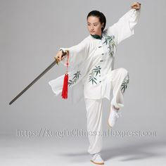 Chinese Tai chi clothing Martial arts suit kungfu uniform taiji clothes embroidery for men women children boy girl kids adults Kung Fu, Karate, Tai Chi Clothing, Martial Arts Techniques, Martial Arts Women, Embroidery On Clothes, Martial Artists, Bruce Lee, Asian