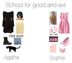 """""""The school for good and evil"""" by millymad ❤ liked on Polyvore"""