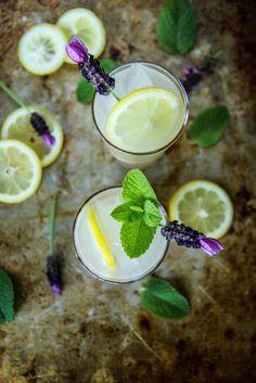 Honey Rum Mint Lemonade from HeatherChristo.com