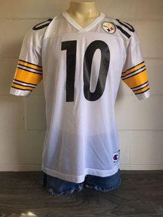 ec111255d3c Steelers Stewart Jersey Vtg Champion NFL Football Pittsburg  10 Kordell  Shirt 44  Champion