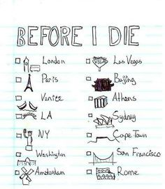 I'll have this travel list checked ;)