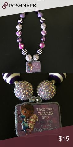 Doc McStuffins chunky bubblegum necklace Handmade, high quality Doc McStuffins chunky bubblegum necklace. Pair with a cute outfit or use as a prop for a photo shoot for your cute little one! Doc McStuffin Jewelry Necklaces