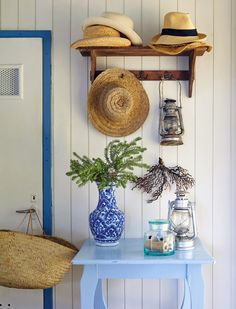 Not this but the idea of a place for beach hats!   House of Turquoise: Pippa de Bruyn
