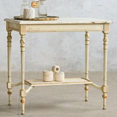 Eloquence One of a Kind Vintage Table Cream Gilt FETVN12010
